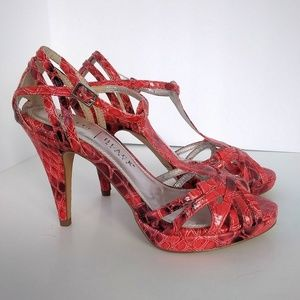 White House Black Market Shoes - White House Black Market Coral Heeled Sandals Sz 6